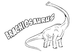 Brachiosaurus Coloring Pages With Name
