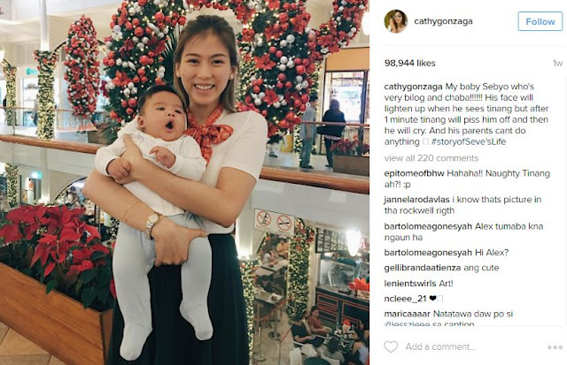 Alex Gonzaga Can't Keep Her Hands off of Her Nephew, Baby Seve!  This Is A Must See!