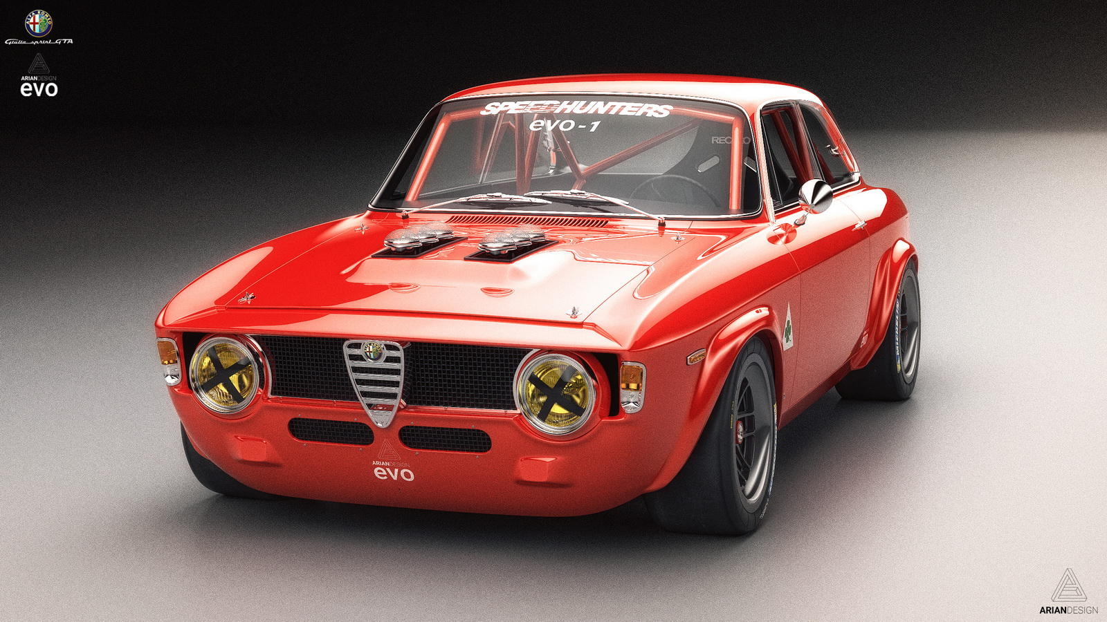 this classic alfa romeo giulia gta looks so yummy we wish it was real carscoops. Black Bedroom Furniture Sets. Home Design Ideas