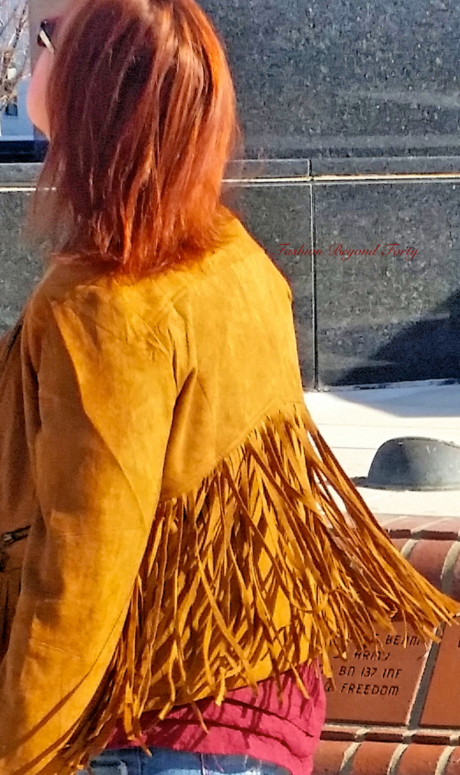 Tan Fringed Suede Cropped Jacket Swing
