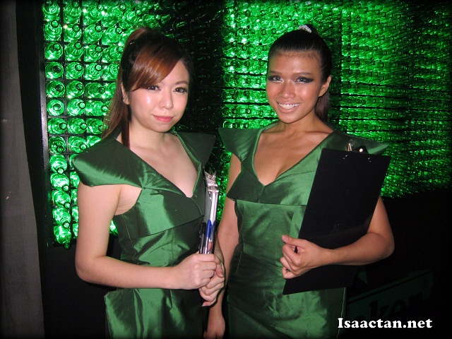 More Heineken ladies in green