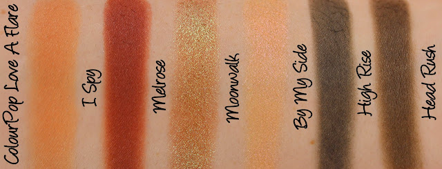 ColourPop Love A Flare Set Swatches & Review