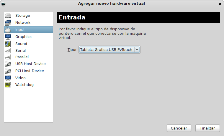 Evtouch driver