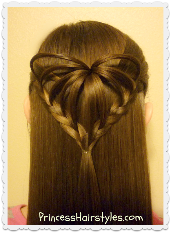 Half Up 3d Heart Hairstyle Valentine S Day Hairstyles