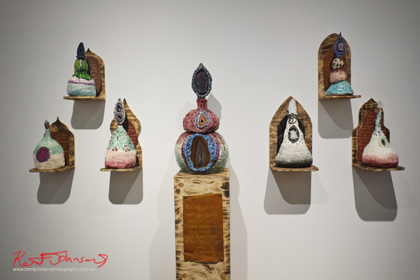 Ceramic and thunder egg art works, go deeper, KUDOS Gallery.