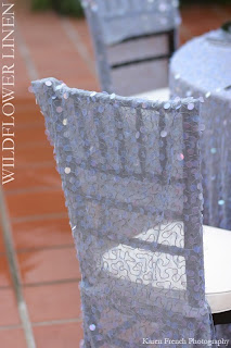 shimmery wedding chair cover