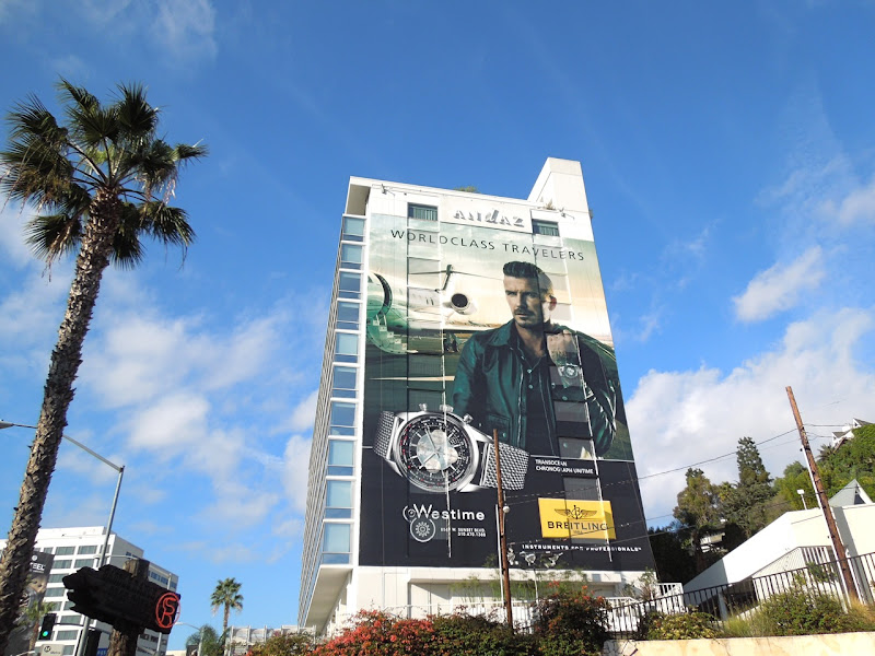 Giant David Beckham Breitling watch billboard