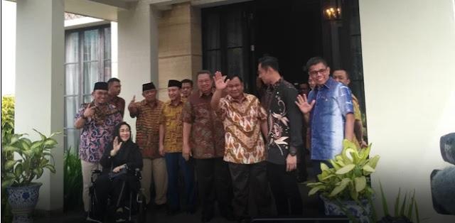 Momen Pertemuan SBY-Prabowo di Mega Kuningan, Hanya Ini yang Terucap