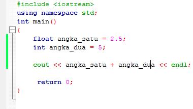 7# Tipe Data Bahasa Pemrograman C++