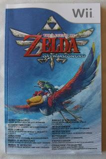 The Legend Of Zelda - Skyward Sword - Manual portada