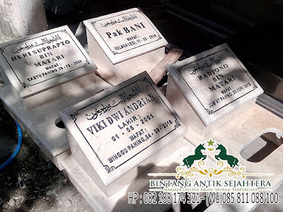 Harga Nisan Makam Marmer, Makam Nisan Marmer Putih