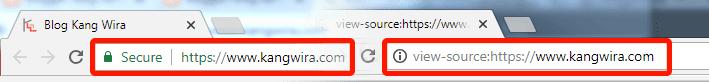 Melihat Kode Template dengan View Page Source