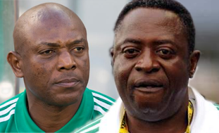 Stephen Keshi and Amodu Shuaibu