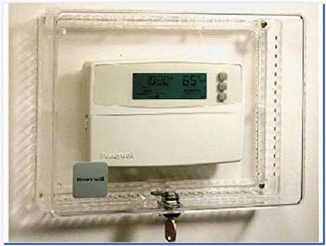 Honeywell thermostat locking cover