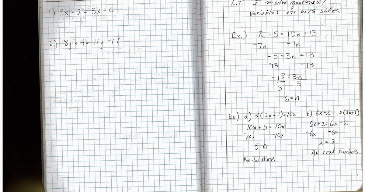 Heidemann 8th Grade Math: 7th Period Pre Algebra 11/3