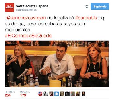 #ElCannabisSeQueda tweet Soft Secrets