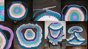 Cómo tejer un chaleco con diseño circular