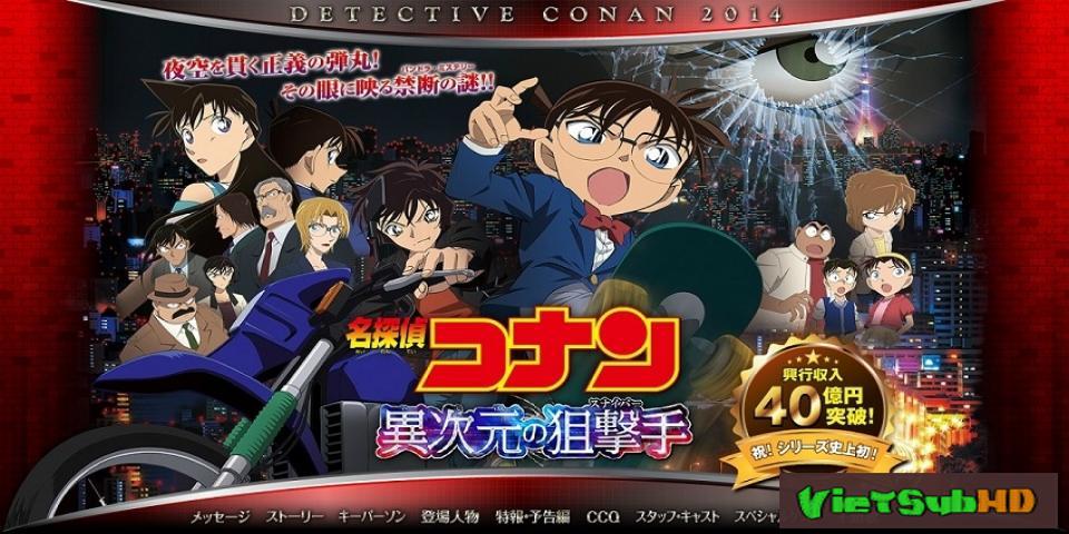 Phim Thám Tử Conan Movie 18: Sát Thủ Bắn Tỉa Không Tưởng VietSub HD | Detective Conan Movie 18: Dimensional Sniper 2014