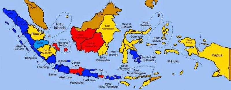 Jumlah Provinsi di Indonesia Beserta Nama Nama Provinsi Baru