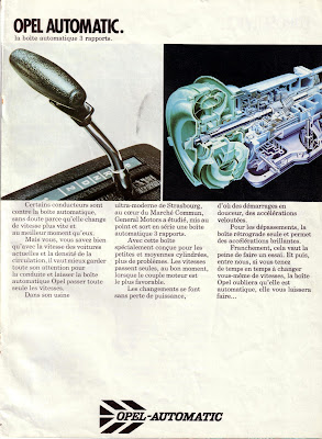 Sales brochure page for Opel automatic transmission units