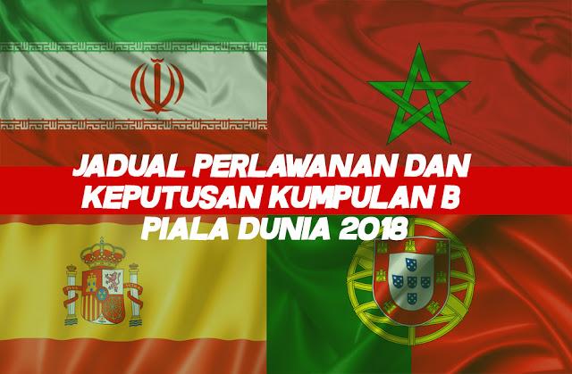 Jadual Perlawanan dan Keputusan Kumpulan B Piala Dunia 2018