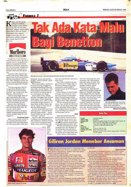 Formula 1: Tak Ada Kata Malu Bagi Benetton