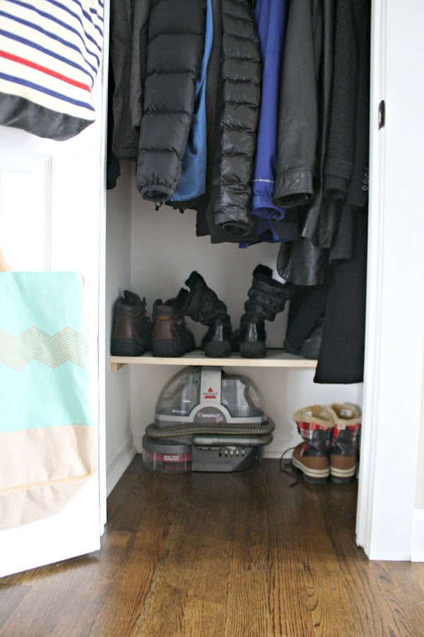 Coat closet organization tips