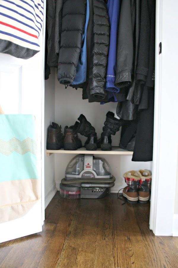 Coat closet organization tips