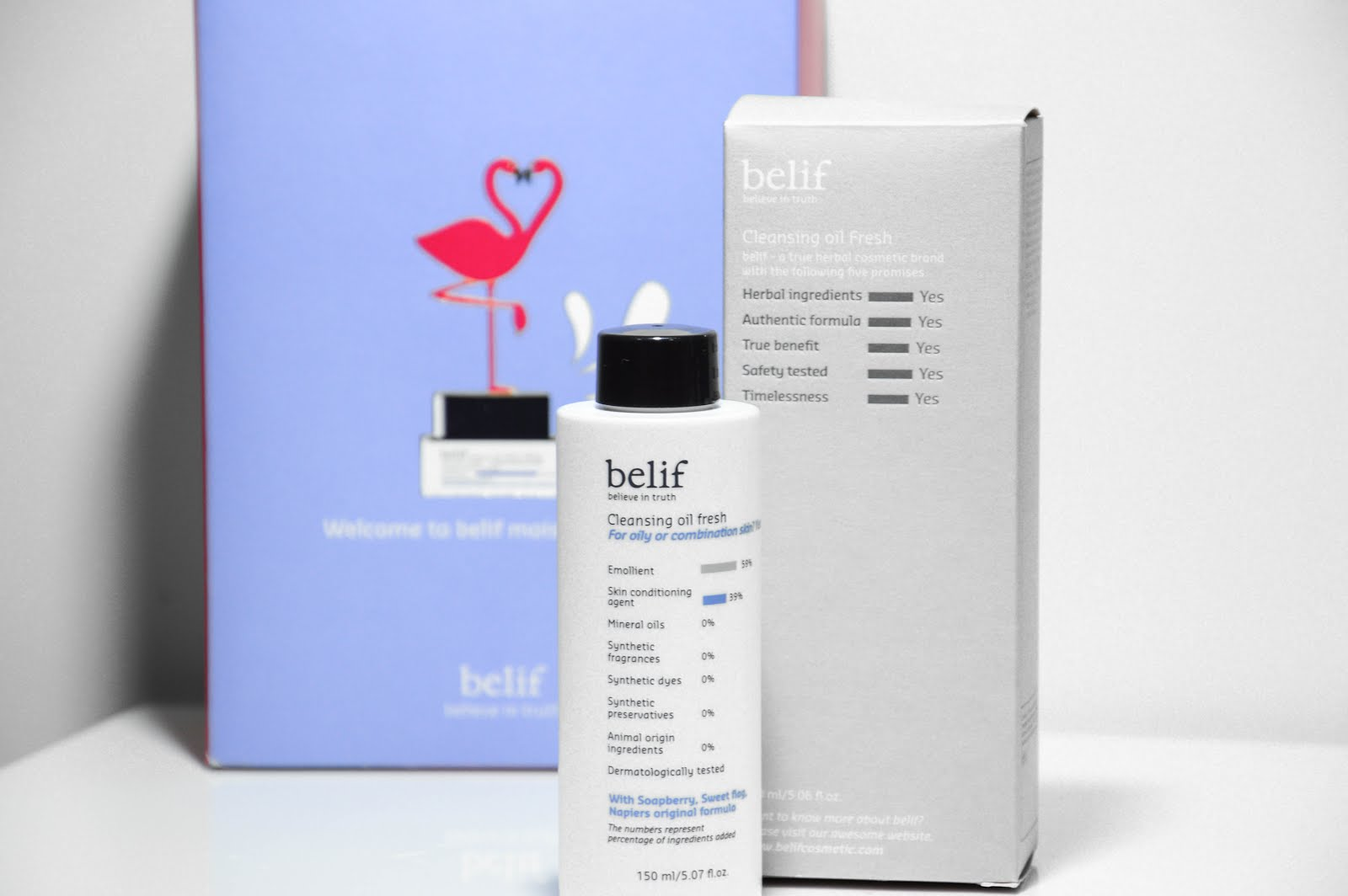 belif cleansing oil fresh review