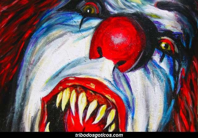 palhaço assustador filmes terror pintura