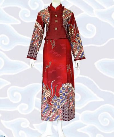 model gamis batik kombinasi trendy