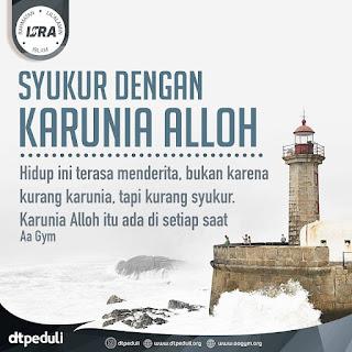 Syukur Dengan Karunia Alloh - Qoutes - Kajian Islam Tarakan