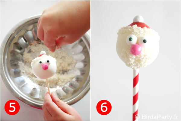 DIY Cake Pops Père Noël | BirdsParty.fr