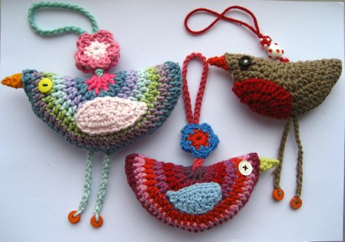 Red Heart Benedict and Bertie Crochet Bird | Yarnspirations | 351x500
