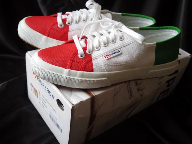 スペルガのイタリア国旗スニーカー