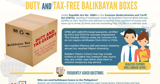 New Guidelines for Sending Balikbayan Box from the Bureau of Customs