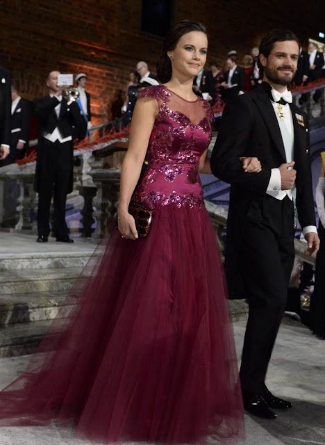 Sofia Hellqvist attend the Nobel Prize Banquet 2014