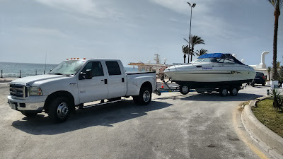 Spain UK boat, car, caravan and trailer towing