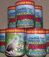 Pakan Burung Perkutut Merk Racikan Madura