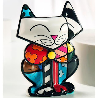Escultura gatinho - Romero Britto