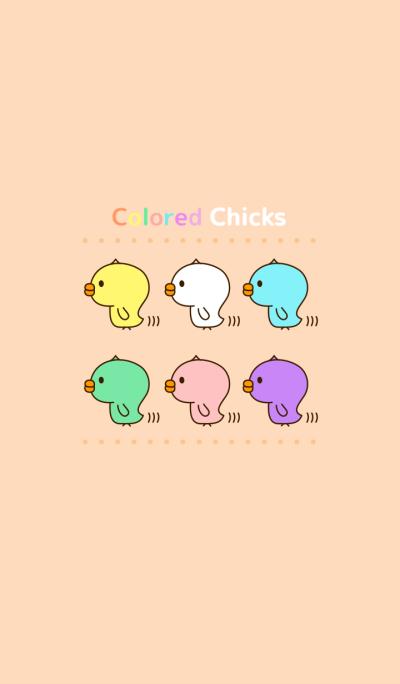 Cute Colored Chicks