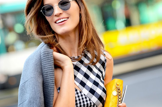 tendenza stampa vichy come abbinare la stampa vichy abbinamenti stampa vichy gingham print how to wear gingham print tendenze estate 2016 ss trend fashion blog italiani blogger italiane di moda mariafelicia magno