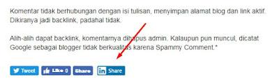 Tombol Share LinkedIn