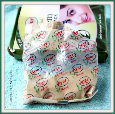 Packaging of Ayur Herbals Neem Anti-dryness Face pack