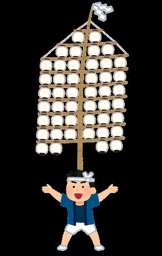 竿燈のイラスト