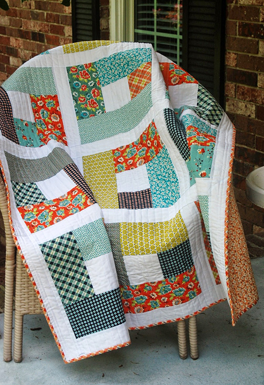 Garden Fence Quilt made by Cindy of Spin the Bobbin, The Pattern by Adrianne of Little Bluebell