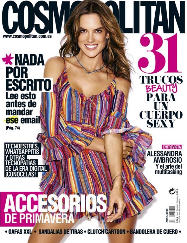 Alessandra Ambrosio gets flirty for Cosmopolitan Spain
