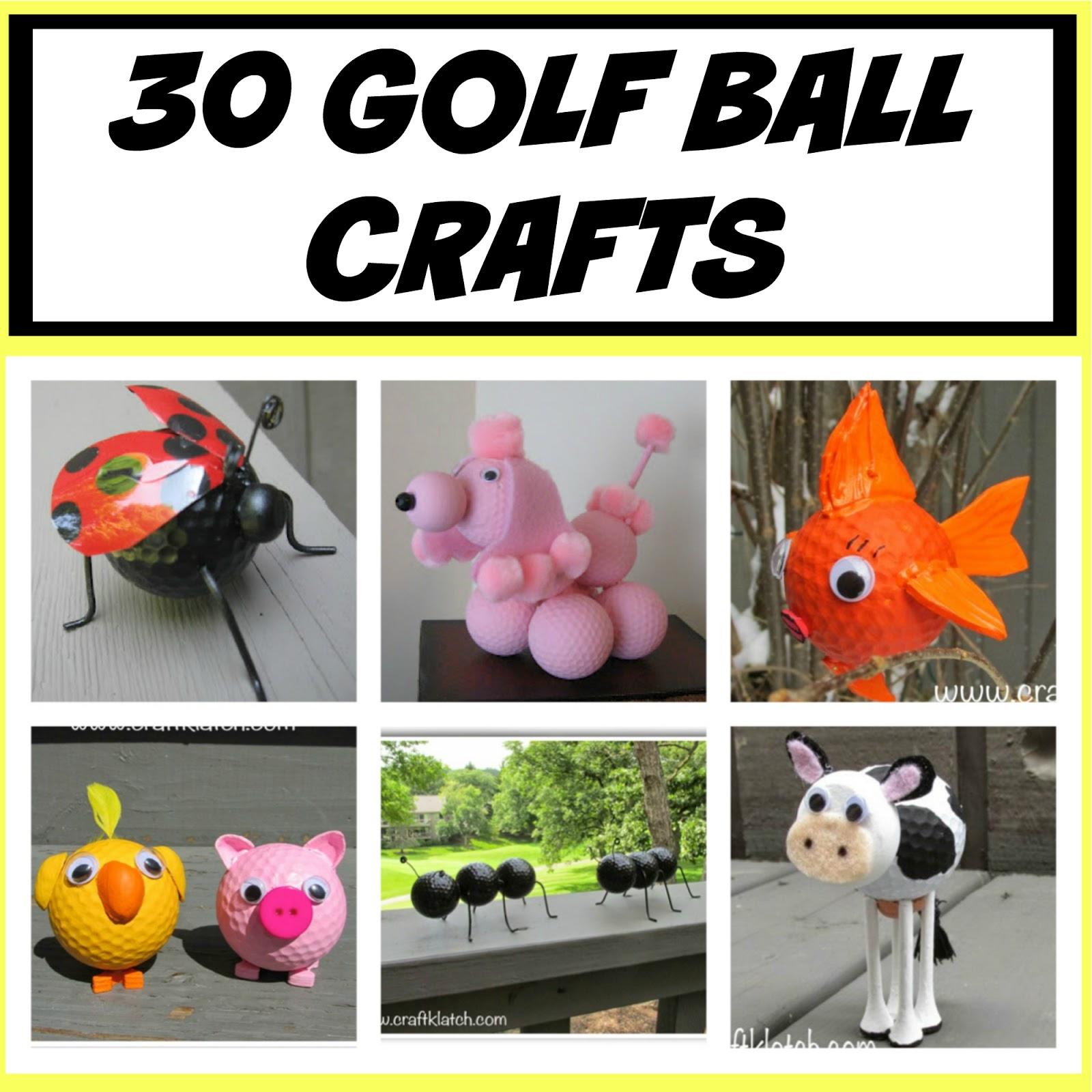 Craft Klatch 30 Golf Ball Crafts Diy Craft Klatch How To