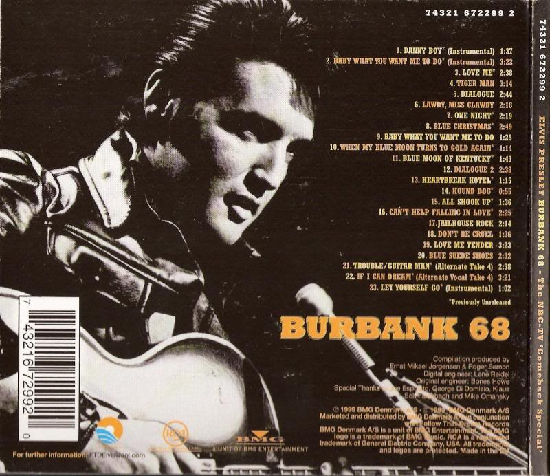 ELVIS FTD CD`s: Burbank' 68 (Flac & MP3) FTD