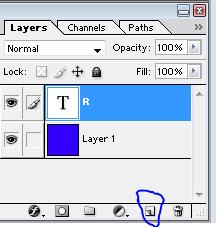 Membuat layer baru untuk icon blog